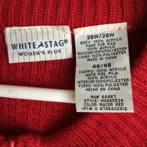 White Stag Sweaters - White Stag Red Zipper Front Sweater Size 26W 3/$30